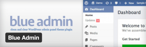 Blue Admin wp theme