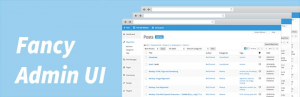 Fancy Admin UI wp theme