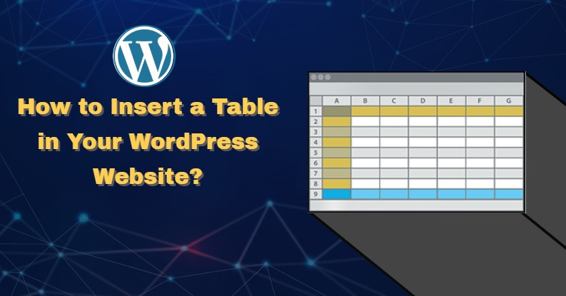 wordpress insert table