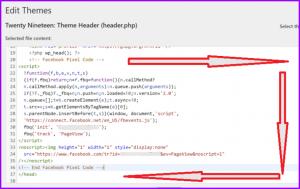 Add Facebook Pixel Tracking Code To WordPress