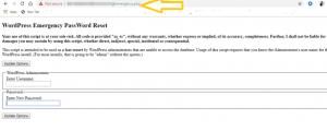Change WordPress Password Via the Emergency Password Reset Script