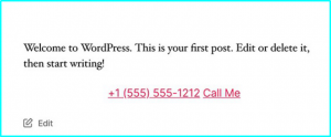 Create Clickable Phone Number WordPress manually