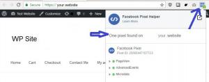 Facebook Pixel WordPress Test