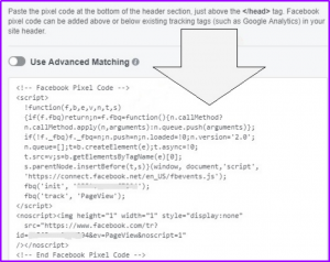 Facebook Pixel tracking code on wordpress
