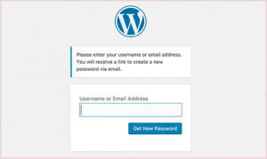 click generate new password