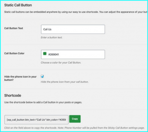 clickable call button plugin wordpress