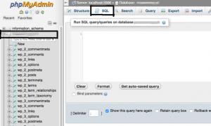 phpMyAdmin for wordpress database optimization