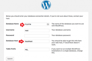wordpress localhost installation