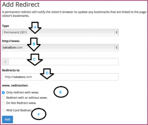 Redirect www. To non-www on WordPress using cPanel
