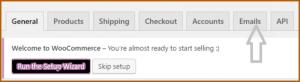 WooCommerce Email tab