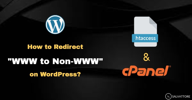 how to redirect www to non www
