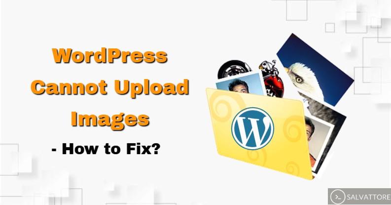 wordpress cannot upload images