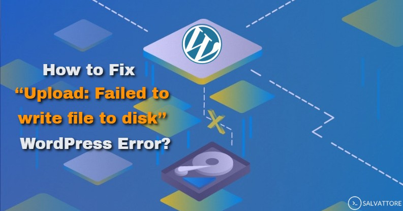 wordpress failed to write file to disk